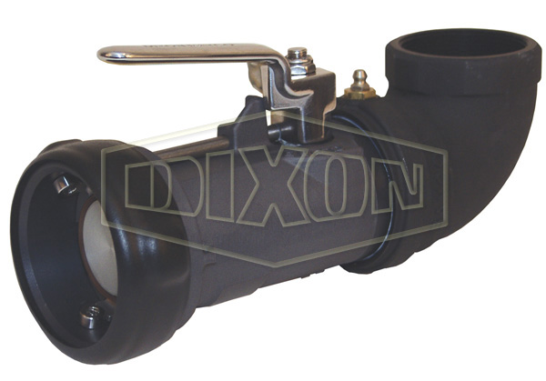 Bayonet Style Dry Disconnect 90° Swivel Coupler x Female NPT