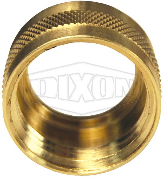 Garden Hose Round Nut with Knurl