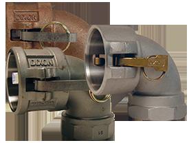 Dixon 150A-90AL Alum 90 Degree Male Adapter x Female NPT 1.5