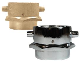 Open Snoot Brass Female Swivel Adapter - Pin Lug