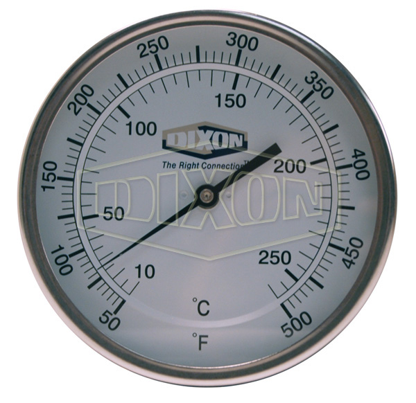 "Bi-Metal Back Connected 5"" Face Thermometer"
