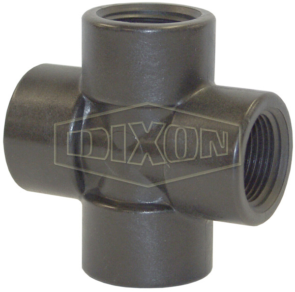 Schedule 80 Threaded Polypropylene Cross