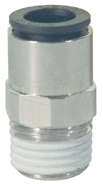 "Legris Nylon/Nickel-Plated Brass Push-In ""Hybrid"" Male Connector"