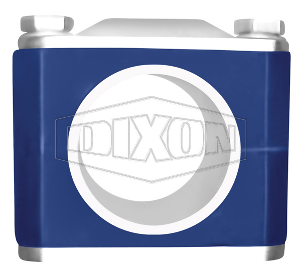 1//2-3//4 Tube OD Hex Tube Hanger with Grommets Dixon B24RG-G75 Stainless Steel 304 Sanitary Fitting