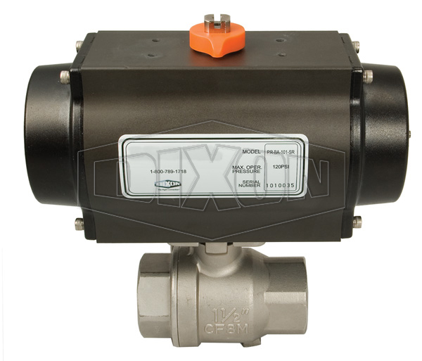 Pneumatically Actuated 2-Piece Stainless Ball Valve