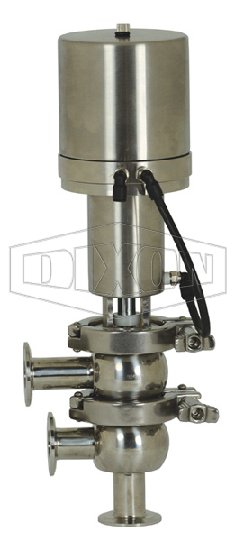 SV-Series Single Seat Hygienic Valve F Body Pneumatic Actuator Spring Return Air to Raise, Basic Control Top