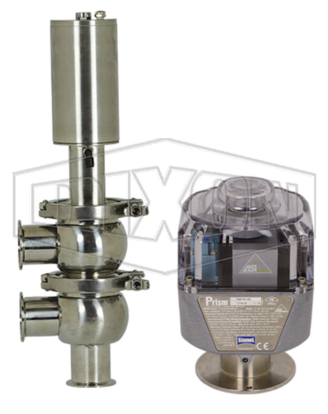 SV-Series Single Seat Hygienic Valve F Body Pneumatic Actuator Spring Return Air to Lower, Communication Module