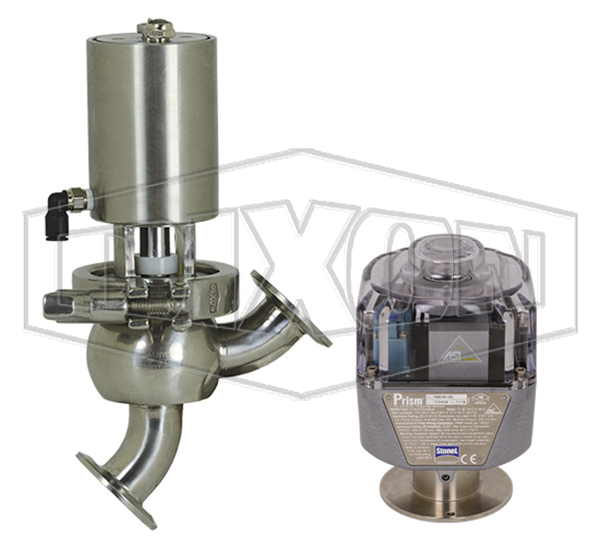 SV-Series Single Seat Hygienic Valve L/L Body Pneumatic Actuator Spring Return Air to Raise, Communication Module