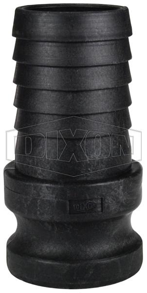 Polypropylene Cam & Groove Type E Adapter x Hose Shank