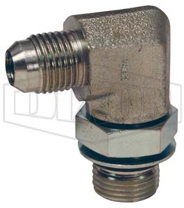 Straight Adapter 3 Units Brennan 1//8 in Male British Standard Pipe Parallel x 1//4 in Male JIC 37/° Flare
