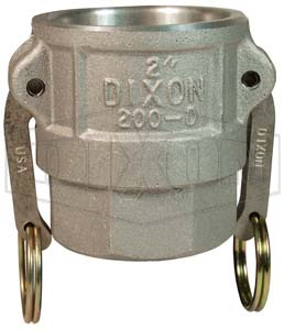 2 x 3 Dixon Sanitary Reducing Cam and Groove Female Coupler x Male Adapter 356T6 Aluminum