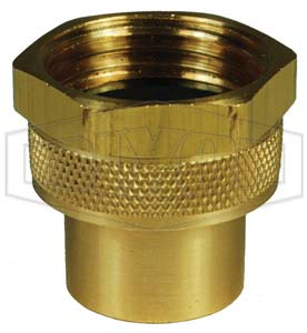 Hex Nut 171C-0402 Brass Dixon 1//2 Hose Female GHT Cplg 1 Shank Length