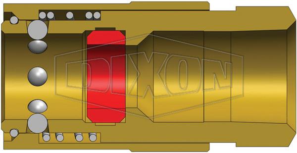 Dixon 3vf3-b 3//8 Inch H-style Coupl 3//8 Inch Nptf Bras 200041-3