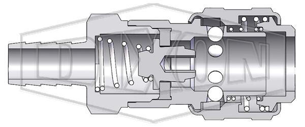 pneumatic automatic standard hose barb coupler