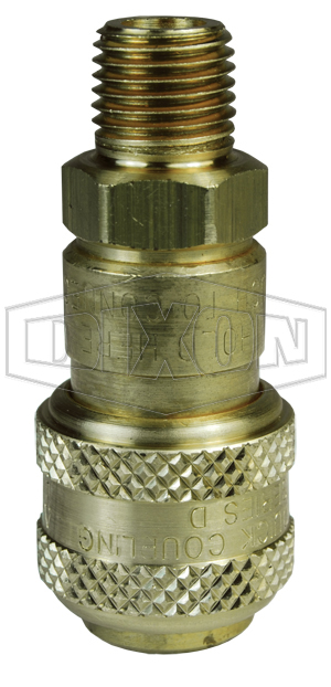 D-Series Pneumatic Automatic Male Threaded Coupler