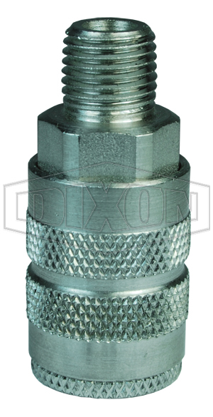 F-Series Pneumatic Manual Male Threaded Coupler