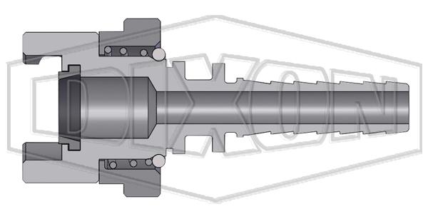 dual lock p series thor interchange hose barb coupler