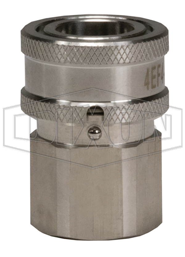 DQC E-Series Straight Through Interchange Female Coupler with Locking Sleeve