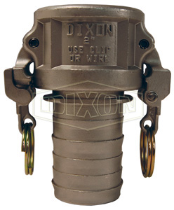 EZ Boss-Lock Cam & Groove Type C Coupler x Hose Shank with Notched Shank