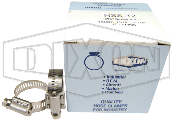 Dixon Worm Gear Clamp - Retail Packaged