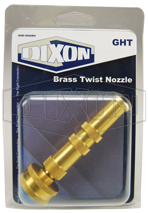Brass Twist Nozzle - Retail Packaged