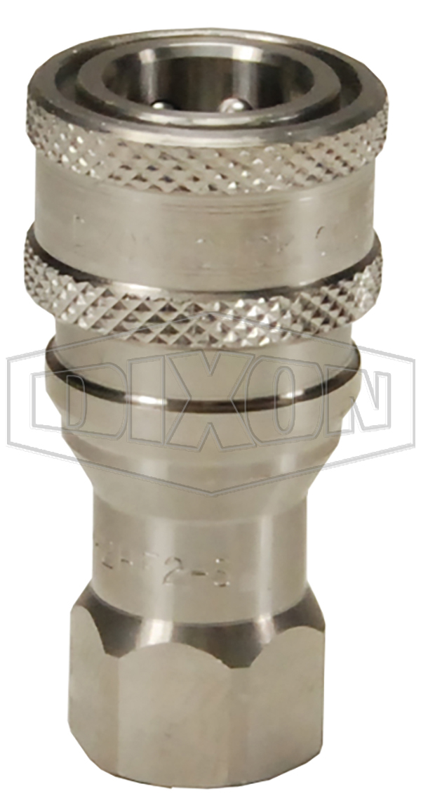 h series iso b industrial interchange poppet valve female threaded couplers steel brass hydraulic couplings