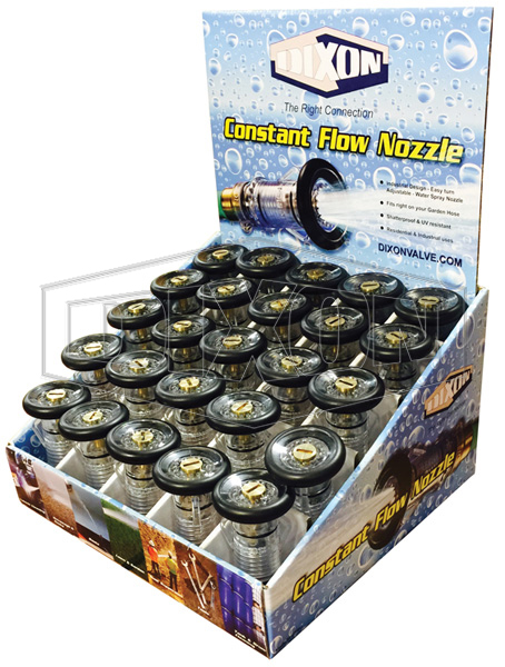 Constant Flow Nozzle Display - Retail Packaged