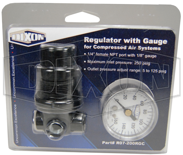 R07 Series 1 FRL's Carded Miniature Regulator - Retail Packaged
