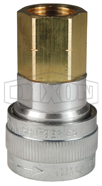 SHD-Series Schrader Pneumatic Female Threaded Coupler