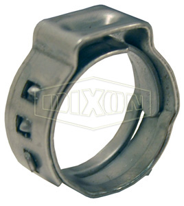 0.5 Dixon 0993 304SS Step Less Ear Clamp Pack of 100