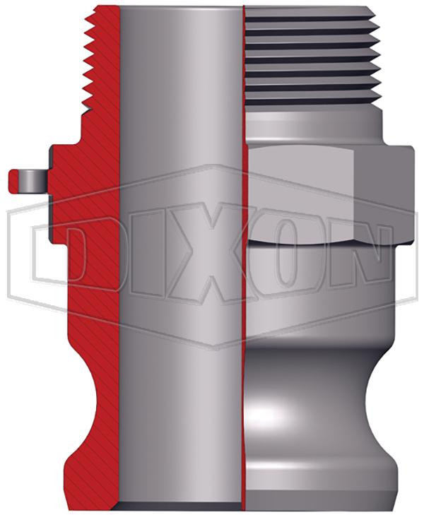 250 psi 1-1-2 Dixon Boss-Lock 150-F-AL Type F Cam and Groove Adapter