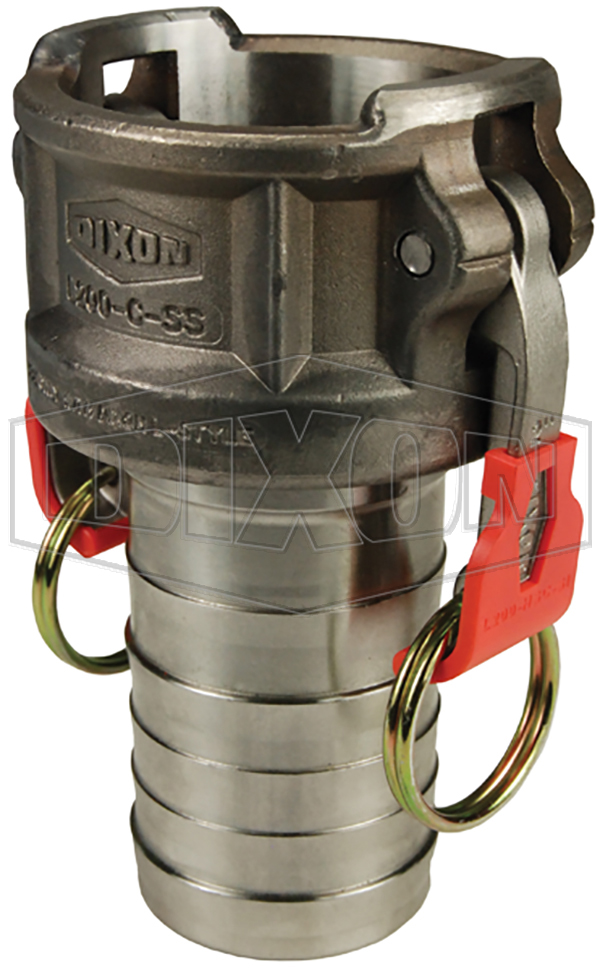 Vent-Lock Safety Cam & Groove Type C Coupler x Hose Shank