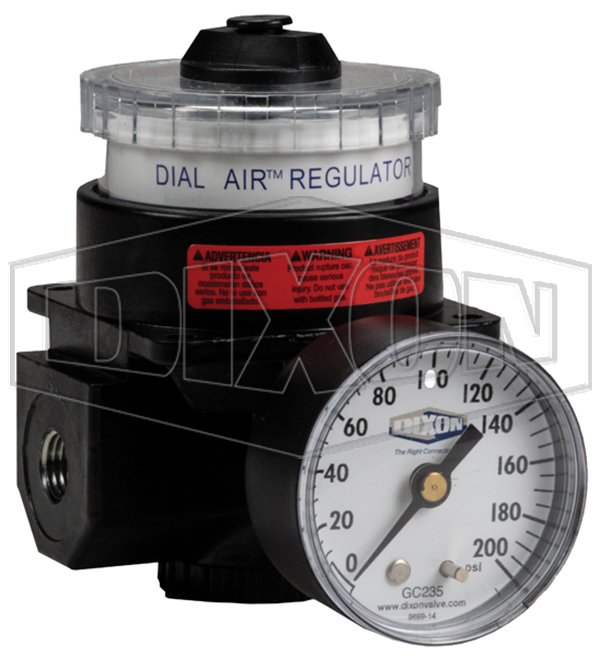 MAX Temp of 150F WILKERSON PNEUMATIC R21-02-000 DIAL AIR Regulator 1//4 NPT 300 PSI MAX 2 Gauge Ports